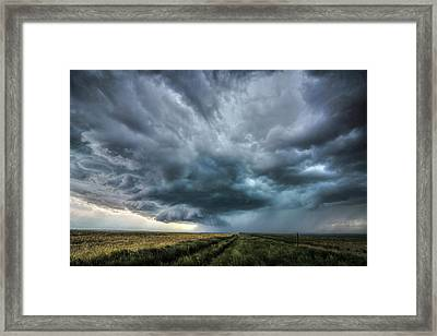 Montana Thunderstorm Framed Print