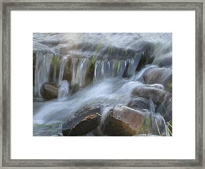 Montana Waterfall Framed Print by Kristy Marsich