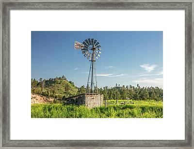 Montana Windmill Framed Print