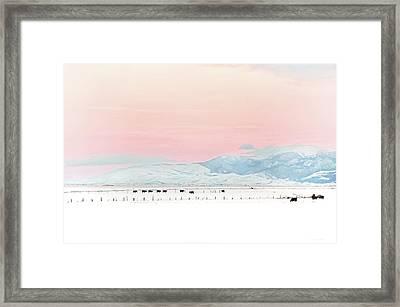 Montana Winter Sunset Sky Framed Print
