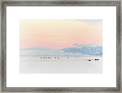 Montana Winter Sunset Sky Framed Print by Jennie Marie Schell