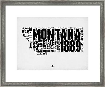 Montana Word Cloud 2 Framed Print