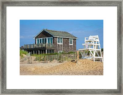 Framed Print featuring the photograph Montauk Beach Life by Art Block Collections