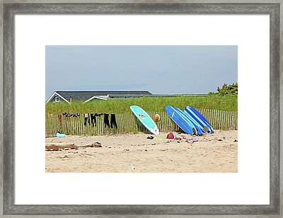 Framed Print featuring the photograph Montauk Beach Stuff by Art Block Collections