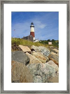 Montauk Lighthouse 2 Framed Print by Michael Simeone