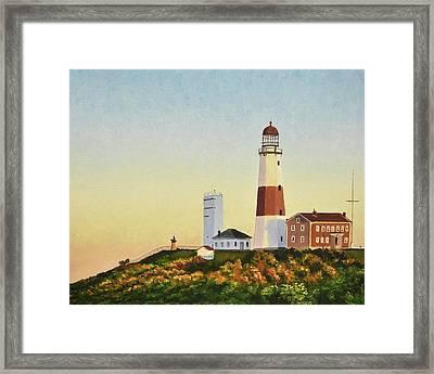 Montauk Lighthouse Framed Print