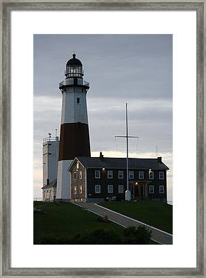 Montauk Point Light At Dawn Framed Print