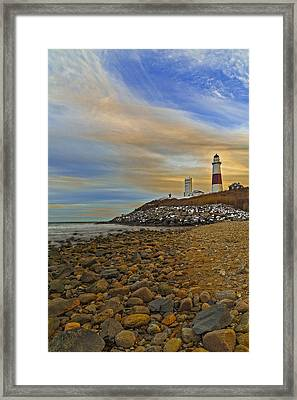 Montauk Point Lighthouse Framed Print by Susan Candelario