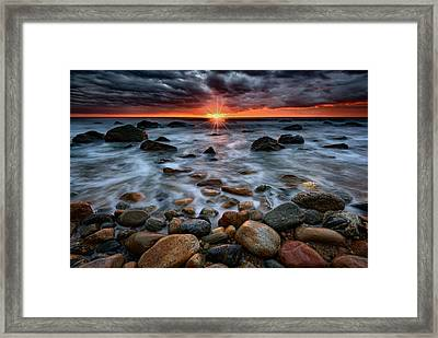 Montauk Storm Clouds Framed Print by Rick Berk