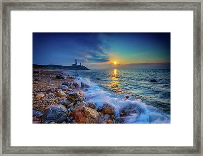 Montauk Sunrise Framed Print by Rick Berk