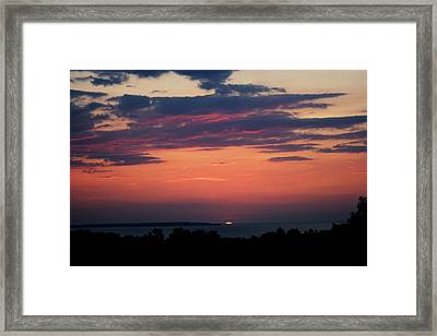 Montauk Twilight Framed Print