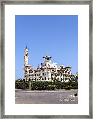 Montaza Palace In Alexandria, Egypt. Framed Print