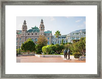 Monte Carlo Casino And Gardens, Monaco Framed Print by Elena Elisseeva