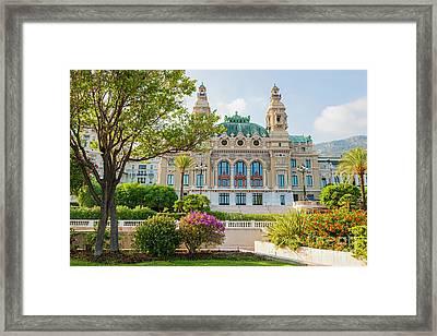 Monte Carlo Casino Framed Print by Elena Elisseeva