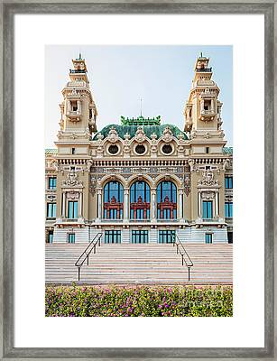 Monte Carlo Casino In Monaco Framed Print by Elena Elisseeva