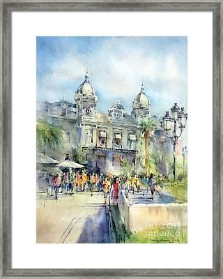 Monte Carlo Casino - Monaco Framed Print by Natalia Eremeyeva Duarte