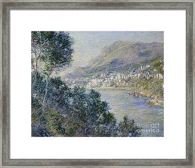 Monte Carlo Framed Print by Claude Monet