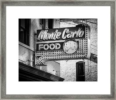 Monte Carlo Food Framed Print by Perry Webster