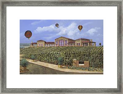Monte De Oro And The Air Balloons Framed Print by Guido Borelli