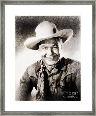 Monte Hale, Vintage Actor Framed Print