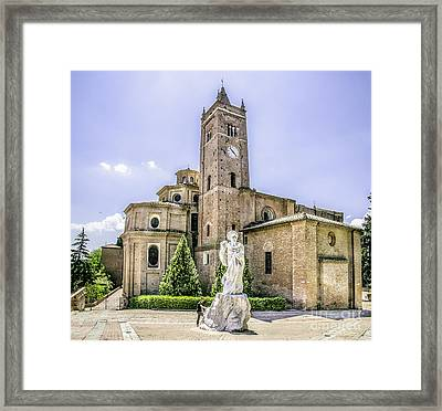 Monte Oliveto Maggiore Canvas- Asciano - Siena Prints  Tuscany Squared Format Framed Print by Luca Lorenzelli