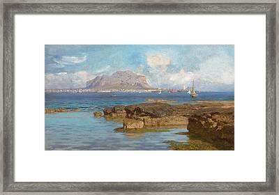 Monte Pellegrino  Palermo Sicily Framed Print by Francesco Lojacano