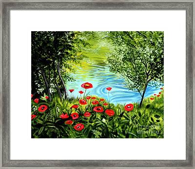 Monte Rio Poppies Framed Print by Elizabeth Robinette Tyndall