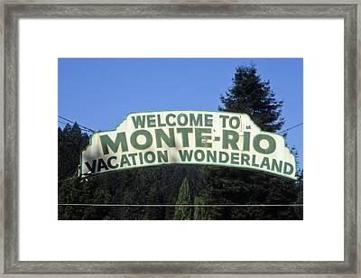 Monte Rio Sign Framed Print