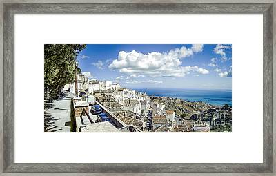 Monte Sant Angelo Canvas - Panorama Prints Adriatic Sea - Gargano Italy Quadri Framed Print by Luca Lorenzelli