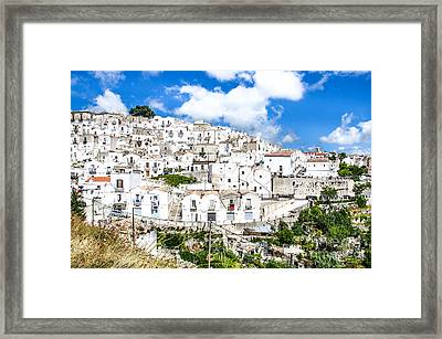 Monte Sant Angelo Canvas - Prints South Italy Village - Gargano  Framed Print by Luca Lorenzelli