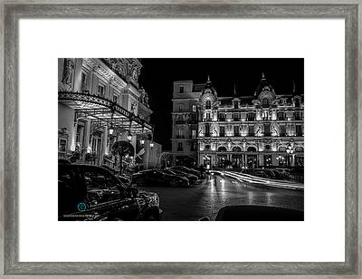 Montecarlo Nights Framed Print