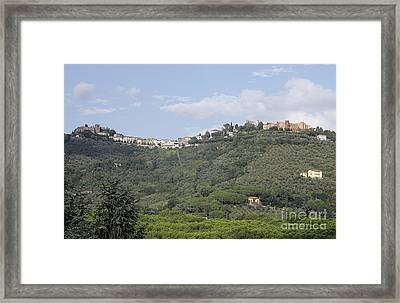 Montecatini Alto Framed Print by Stan and Anne Foster