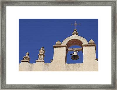 Framed Print featuring the photograph Montecito Mt. Carmel Church Tower by Art Block Collections