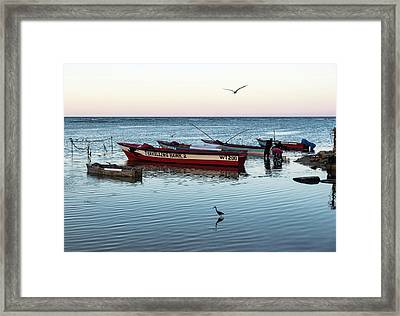 Montego Bay Fishing Scene Framed Print
