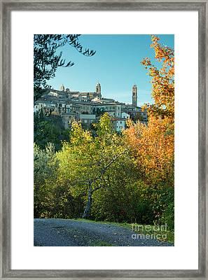 Montalcino View Framed Print by Brian Jannsen
