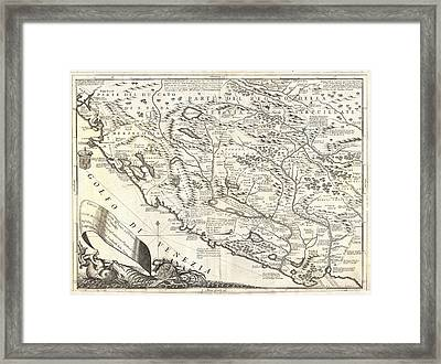 Montenegro 1690 Map Framed Print by Dan Sproul