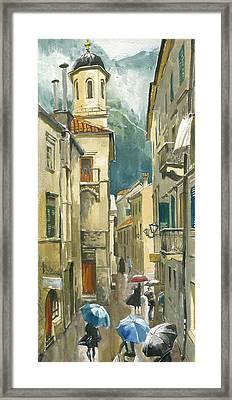 Montenegro. Kotor. Rainy Day Framed Print