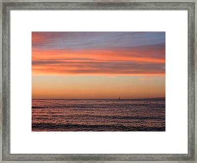 Monterey Bay Sunset Framed Print by Connor Beekman
