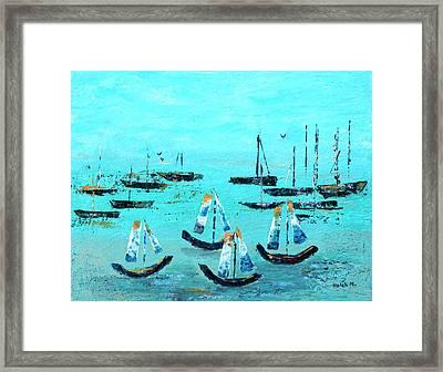 Monterey Boats Framed Print