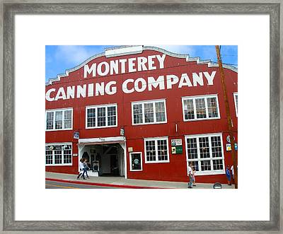 Monterey Canning Company Framed Print by Candace Garcia