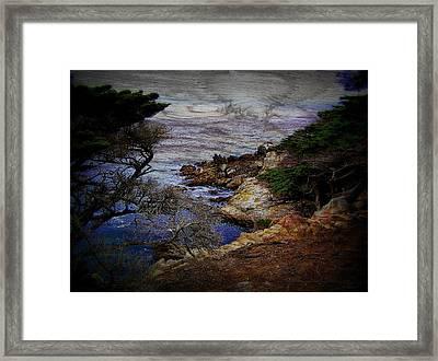 Monterey Coast Framed Print by Jen White