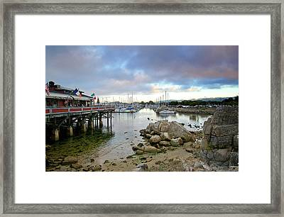 Monterey Harbor - Old Fishermans Wharf - California Framed Print by Brendan Reals