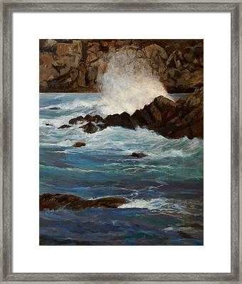 Monterey Wave #1 Framed Print