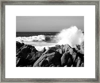 Monterey Waves Framed Print by Halle Treanor