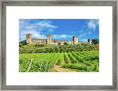 Framed Print featuring the photograph Monteriggioni by Fabrizio Troiani