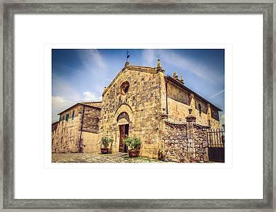 Monteriggioni Main Church Framed Print by Luca Lorenzelli
