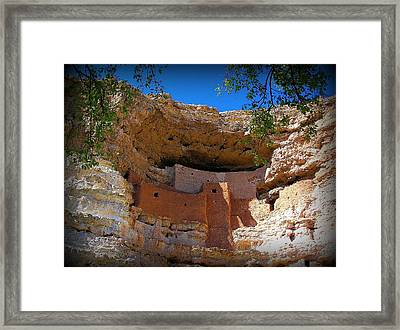 Montezuma Castle In Arizona Framed Print by Jen White