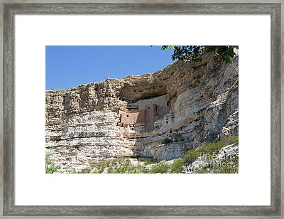 Montezuma Castle National Monument Arizona Framed Print