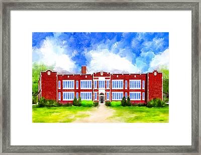 Montezuma School History Framed Print by Mark Tisdale