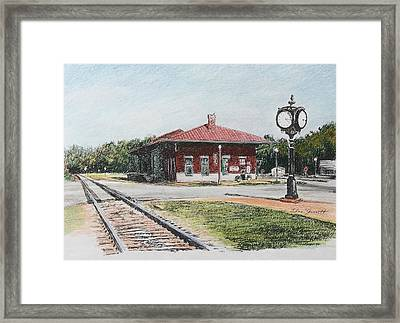 Montezuma Train Depot Framed Print